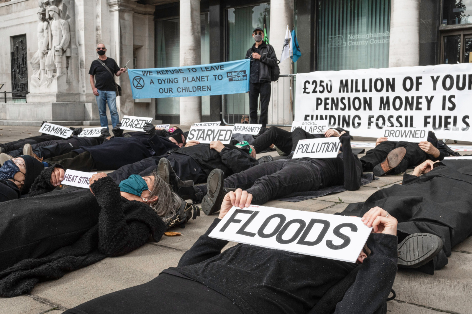 'die-in' at County Hall
