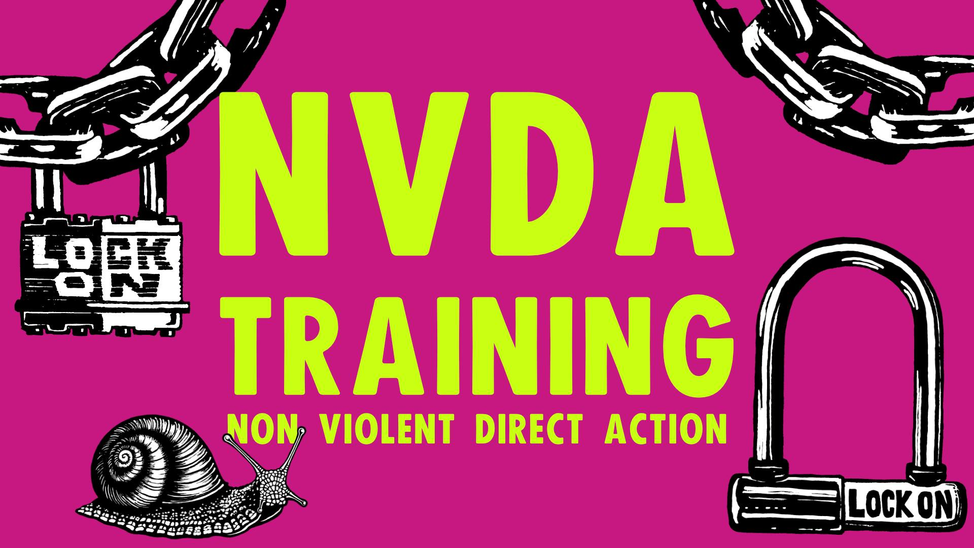 NVDA training with purple background locks and chains